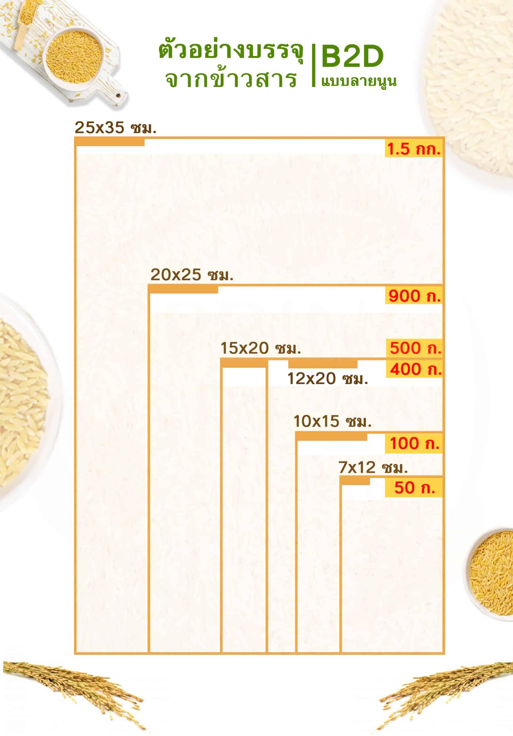 ถุงซีลสุญญากาศ-ถุงเรียบ-B2D-ตัวอย่างถุง