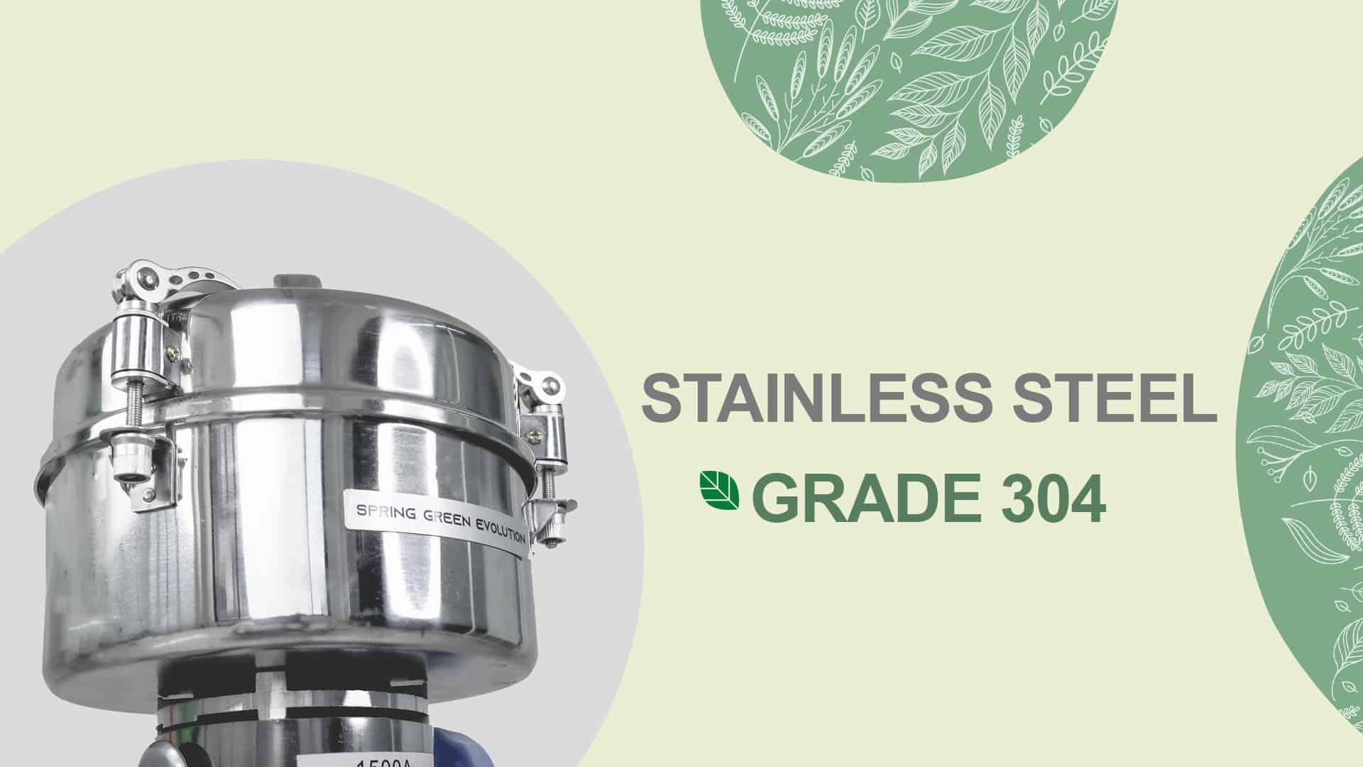 เครื่องบดสมุนไพร-PG-Stainless Steel Grade 304