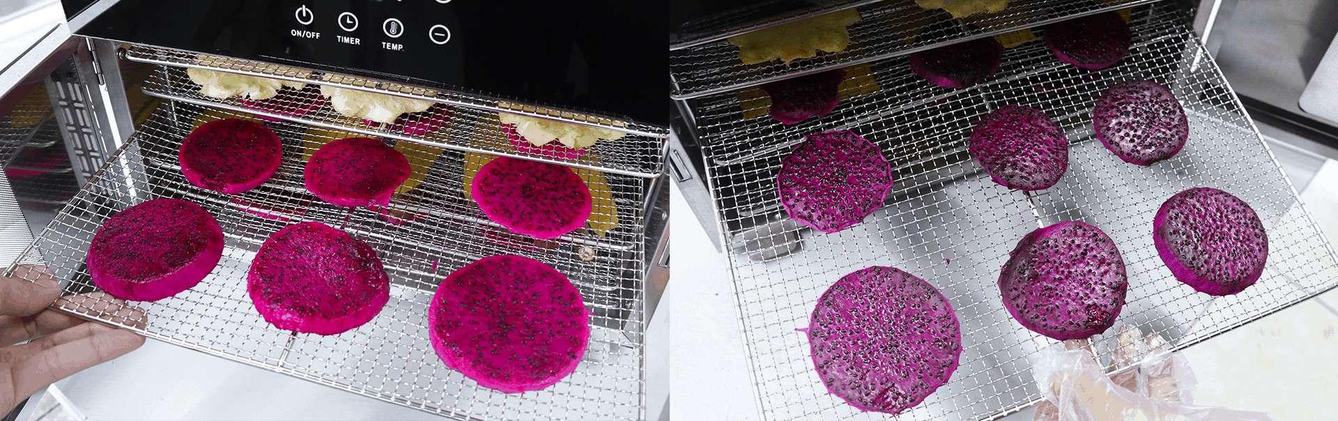 เครื่องอบแห้ง เครื่องอบผลไม้แห้ง -ก่อนและหลัง (2)