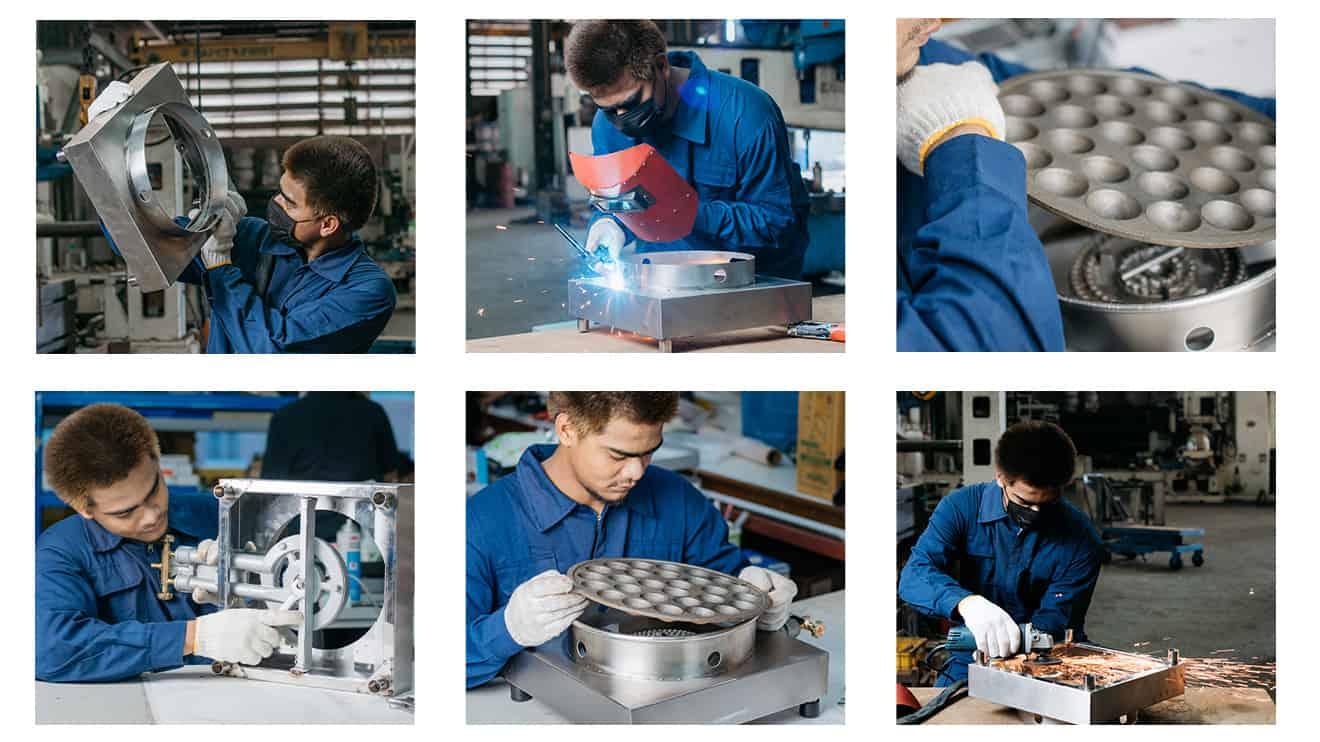 เครื่องทำขนมครก-โรงงานผลิต
