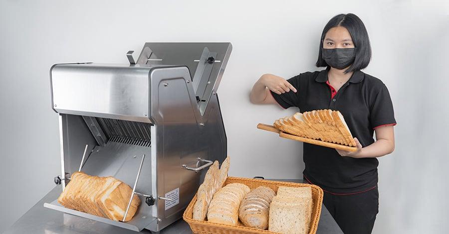 หลังใช้งานจริงเครื่องหั่นขนมปัง